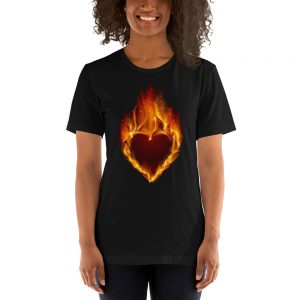Burning hart Unisex T-Shirt